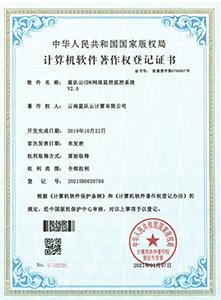 CDN网络监控监控系统著作权证书